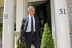 © Licensed to London News Pictures. 26/05/2016. London, UK.  JOSE MOURINHO leaves his home in west London amid ongoing speculation that he is due to be announced as the new manager of Manchester United Football Club. Photo credit: Ben Cawthra/LNP