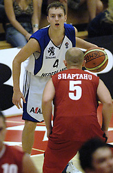 16-09-2006 BASKETBAL: NEDERLAND - ALBANIE: NIJMEGEN<br /> De basketballers hebben ook hun vierde wedstrijd in de kwalificatiereeks voor het Europees kampioenschap in winst omgezet. In Nijmegen werd een ruime overwinning geboekt op Albanie: 94-55 / Rogier Jansen<br /> ©2006-WWW.FOTOHOOGENDOORN.NL