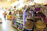 Maui, Hawaii.  Straw sun hats still sold at the Hasegawa General Store in Hana, Maui.