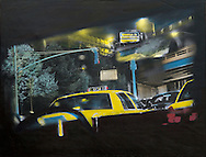 NYC in Colors  Horn / Andersen<br /> Taxi 8Y34 <br /> 100x130 cm    pris kr. 12.500,- <br /> Dato: 23.11.13<br /> Foto:  Lars Horn / Baghuset