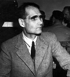 File picture dated 1946 of former deputy Fuhrer Rudolf Hess, as the British authorities were desperate to debunk claims that Rudolf Hess was really an imposter, according to newly-released official files.