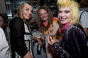KIM HERSOV; STEPHANIE THEOBALDS; PAM HOGG;, Launch of Stephanie Theobald's book' A Partial Indulgence'  drinks provided by Ruinart champage nd Snow Queen vodka. The Artesian at the Langham, 1c Portland Place, Regent Street, London W1<br /> KIM HERSOV; STEPHANIE THEOBALDS; PAM HOGG;, Launch of Stephanie Theobald's book' A Partial Indulgence'  drinks provided by Ruinart champage nd Snow Queen vodka. The Artesian at the Langham, 1c Portland Place, Regent Street, London W1 *** Local Caption *** -DO NOT ARCHIVE-© Copyright Photograph by Dafydd Jones. 248 Clapham Rd. London SW9 0PZ. Tel 0207 820 0771. www.dafjones.com.