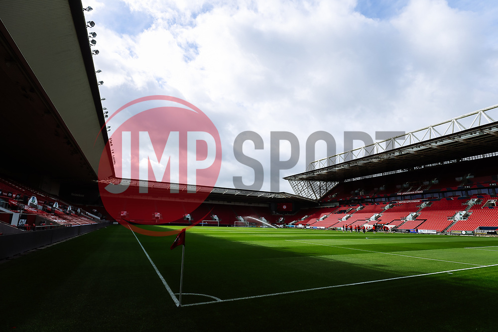 General View at Ashton Gate - Rogan/JMP - 21/08/2020 - Ashton Gate Stadium - Bristol, England - Bristol City v Cheltenham Town - Pre Season Friendly.