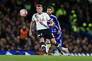 Toby Alderweireld of Tottenham Hotspur in action.Barclays Premier league match, Chelsea v Tottenham Hotspur at Stamford Bridge in London on Monday 2nd May 2016.<br /> pic by Andrew Orchard, Andrew Orchard sports photography.