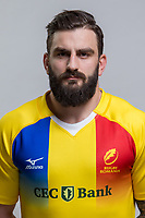 CLUJ-NAPOCA, ROMANIA, FEBRUARY 27: Romania's national rugby player Razvan Ilisescu pose for a headshot, on February 27, 2018 in Cluj-Napoca, Romania. (Photo by Mircea Rosca/Getty Images)