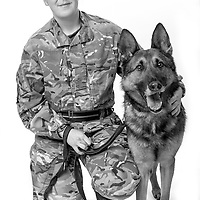 Emma Kennedy, Army - Royal Army Veterinary Private, Dog Handler, Chilli is a Protection Dog,  Veterans Portrait Project UK Sennelager Germany