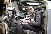 Feyenoord-selectie  krijgt maandag in Amersfoort een militaire training. Op uitnodiging van de Koninklijke Landmacht is de A-selectie een dag te gast op de Bernhardkazerne.<br /> <br /> Op de foto:  Bruno Martind Indi
