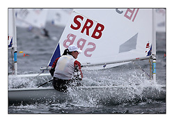 Milica Dukic, SRB 189438..Opening races in breezy conditions for the Laser Radial World Championships, taking place at Largs, Scotland GBR. ..118 Women from 35 different nations compete in the Olympic Women's Laser Radial fleet and 104 Men from 30 different nations. .All three 2008 Women's Laser Radial Olympic Medallists are competing. .The Laser Radial World Championships take place every year. This is the first time they have been held in Scotland and are part of the initiaitve to bring key world class events to Britain in the lead up to the 2012 Olympic Games. .The Laser is the world's most popular singlehanded sailing dinghy and is sailed and raced worldwide. ..Further media information from .laserworlds@gmail.com.event press officer mobile +44 7775 671973  and +44 1475 675129 .