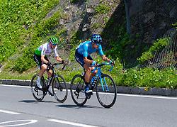 10.07.2019, Fuscher Törl, AUT, Ö-Tour, Österreich Radrundfahrt, 4. Etappe, von Radstadt nach Fuscher Törl (103,5 km), im Bild v.l. Ben O'Connor (AUS, Team Dimension Data), Winner Anacona (COL, Movistar Team) // f.l. Ben O'Connor of Australia (Team Dimension Data) Winner Anacona of Colombia (Movistar Team) during 4th stage from Radstadt to Fuscher Törl (103,5 km) of the 2019 Tour of Austria. Fuscher Törl, Austria on 2019/07/10. EXPA Pictures © 2019, PhotoCredit: EXPA/ Reinhard Eisenbauer