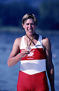 Barcelona Olympics 1992 - Lake Banyoles, SPAIN, CAN W1X Bronze, LAUMANN, Silken Suzette.  Photo: Peter Spurrier/Intersport Images.  Mob +44 7973 819 551/email images@intersport-images.com.       {Mandatory Credit: © Peter Spurrier/Intersport Images].