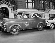 Y-560705A. Boyd's Coffee truck. Driver is Ivan Linnton. July 5, 1956