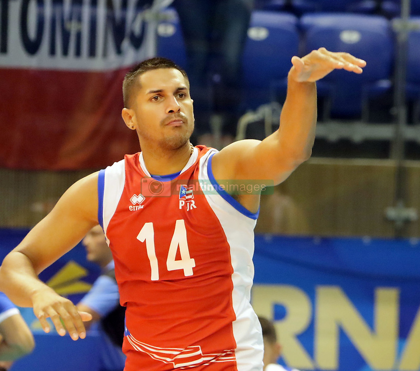 September 12, 2018 - Varna, Bulgaria - Juan VAZQUEZ (Puerto Rico), .FIVB Volleyball Men's World Championship 2018, pool D, Iran vs Puerto Rico,. Palace of Culture and Sport, Varna/Bulgaria, .the teams of Finland, Cuba, Puerto Rico, Poland, Iran and co-host Bulgaria are playing in pool D in the preliminary round. (Credit Image: © Wolfgang Fehrmann/ZUMA Wire)