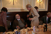 Sir John Mortimer and Peter O'Toole, Oldie of the Year Awards. Simpsons-in-the-Strand. London. 13 March 2007.  -DO NOT ARCHIVE-© Copyright Photograph by Dafydd Jones. 248 Clapham Rd. London SW9 0PZ. Tel 0207 820 0771. www.dafjones.com.