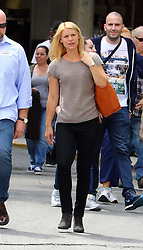 August 18, 2016 - New York, New York, United States - Actress Claire Danes reprises her role as CIA operative Carrie Mathison on the set of the TV show 'Homeland' as it starts filming Season 6 on August 18 2016 in New York City  (Credit Image: © Zelig Shaul/Ace Pictures via ZUMA Press)