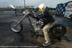 Baker Drivetrain sponsored drags at the Sturgis Dragway during the 75th Annual Sturgis Black Hills Motorcycle Rally.  SD, USA.  August 4, 2015.  Photography ©2015 Michael Lichter.