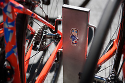 Rider stickers at FDJ at Madrid Challenge by la Vuelta 2017 - a 87 km road race on September 10, 2017, in Madrid, Spain. (Photo by Sean Robinson/Velofocus.com)
