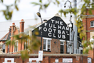 a General view of the exterior of Craven Cottage ahead of today's game. EFL Skybet championship match, Fulham v Middlesbrough at Craven Cottage in London on Saturday 23rd September 2017<br /> pic by Steffan Bowen, Andrew Orchard sports photography.