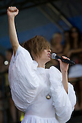 Sunday, August 3, 2008; The Brazilian Girls performs at Lollapalooza 2008.<br /> Photo by Bryan Rinnert