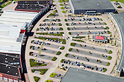 Nederland, Flevoland, Lelystad, 08-09-2009. Woonboulevard Palazzo Lelystad, winkelcentrum en bedrijventrrein, onder ander Gamma, Praxis.<br /> Shopping mall in new polder.<br /> luchtfoto (toeslag op standard tarieven);<br /> aerial photo (additional fee required);<br /> copyright foto/photo Siebe Swart