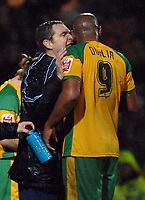 Photo: Ashley Pickering.<br />Norwich City v Queens Park Rangers. Coca Cola Championship. 30/12/2006.<br />Norwich manager Peter Grant has a word with Dion Dublin