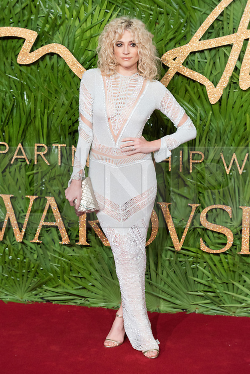 © Licensed to London News Pictures. 04/12/2017. London, UK. PIXIE LOTT arrives for The Fashion Awards 2017 held at the Royal Albert Hall. Photo credit: Ray Tang/LNP