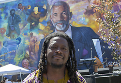June 16, 2018 - Philadelphia, Pennsylvania, U.S - The ED BRADLEY Mural in Philadelphia PA, painted by artist, ERNEL MARTINEZ  Ed Bradley was a highly esteemed journalist, most widely know for his 26 years as a correspondent on the CBS show 60 minutes A native Philadelphian, Bradley is still beloved in his hometown years after his death in 2006 (Credit Image: © Ricky Fitchett via ZUMA Wire)