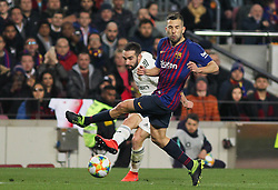February 6, 2019 - Barcelona, BARCELONA, Spain - Jordi Alba of Barcelona in action during Spanish King championship, football match between Barcelona and Real Madrid, February 06th, in Camp Nou Stadium in Barcelona, Spain. (Credit Image: © AFP7 via ZUMA Wire)
