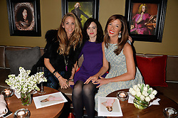 Left to right, LISA BUTCHER, SALLY WOOD and HEATHER KERZNER at a party to launch Madderson London Women's Wear held at Beaufort House, 354 Kings Road, London on 23rd January 2014.
