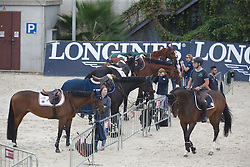 Horses and grooms<br /> Furusiyya FEI Nations Cup Jumping Final - Barcelona 2015<br /> © Dirk Caremans<br /> 23/09/15