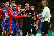 Pablo Zabaleta of Manchester City reacts after  Jason Puncheon of Crystal Palace fouls him. Premier League match, Crystal Palace v Manchester city at Selhurst Park in London on Saturday 19th November 2016. pic by John Patrick Fletcher, Andrew Orchard sports photography.