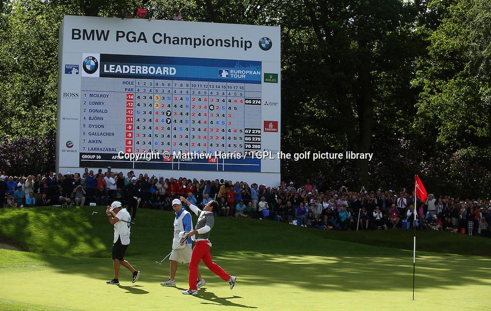 Rory MCILROY (NIR) wins at 18th par 5 during fourth round BMW PGA Championship 2014,Wentworth West,Wentworth,Virginia Water,Surrey,England.
