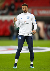 England's Kyle Walker warms up ahead of the match