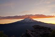 Mount Hood at sunset in Oregon. © Michael Durham
