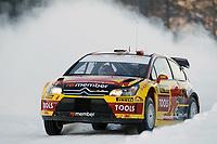 MOTORSPORT - WRC 2010 - RALLY SWEDEN - KARLSTAD (SWE) - 11 to 14/02/2010 - PHOTO : FRANCOIS BAUDIN / DPPI<br /> PETTER SOLBERG (NOR) / PHIL MILLS (GBR) - PETTER SOLBERG WRT - CITROEN C4 WRC - ACTION