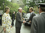 State Visit of King Juan Carlos and Queen Sophia of Spain to Ireland.<br /> 1986.<br /> 30.06.1986<br /> 06.30.1986.<br /> 30th June 1986.<br /> King Juan Carlos and Queen Sophia paid a state visit to Ireland at the invitation of President Hillery and the Irish people.<br /> The duration of the visit was three days.<br /> <br /> Image of the Lord Mayor Jim Tunney and his wife Kathleen as they welcome,Juan Carlos,King of Spain,to the Mansion House,Dawson St,Dublin.<br /> The Mansion House is the residence of the elected Lord Mayor of Dublin.