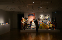 © London News Pictures. 25/09/2017. Hull, UK. A Fashionable Marriage by Lubaina Himid one of four artists shortlisted for Turner Prize 2017 at the Ferens Gallery in Hull, Britain. The exhibition is open to the public from 26 Sep 2017 to 7 Jan 2018. Picture by NIGEL RODDIS/LNP