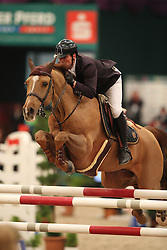 Williams Guy, (GBR), Titus<br /> Longines FEI World Cup presented by Sparkasse<br /> Sparkasen Cup-Grand Prix of Leipzig<br /> CSIO Leipzig 2016<br /> © Hippo Foto - Stefan Lafrentz