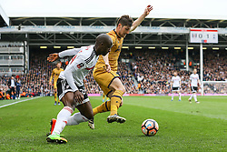 Ben Davies of Tottenham Hotspur clears the ball under pressure from Neeskens Kebano of Fulham - Mandatory by-line: Jason Brown/JMP - 19/02/2017 - FOOTBALL - Craven Cottage - Fulham, England - Fulham v Tottenham Hotspur - Emirates FA Cup fifth round