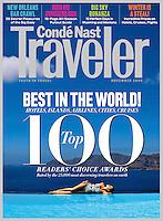 Conde Nast Traveler US Cover Nov 2009