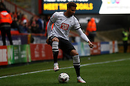 Cyrus Christie of Derby in possession. Skybet football league championship match, Charlton Athletic v Derby County at The Valley  in London on Saturday 16th April 2016.<br /> pic by Steffan Bowen, Andrew Orchard sports photography.