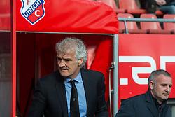 01-03-2015 NED: FC Utrecht - Feyenoord, Utrecht<br /> In de Galgenwaard voltrok zich een inspiratieloos duel en eindigde dan ook in 0-0 / Coach Fred Rutten (NED), Coach Rob Alfen