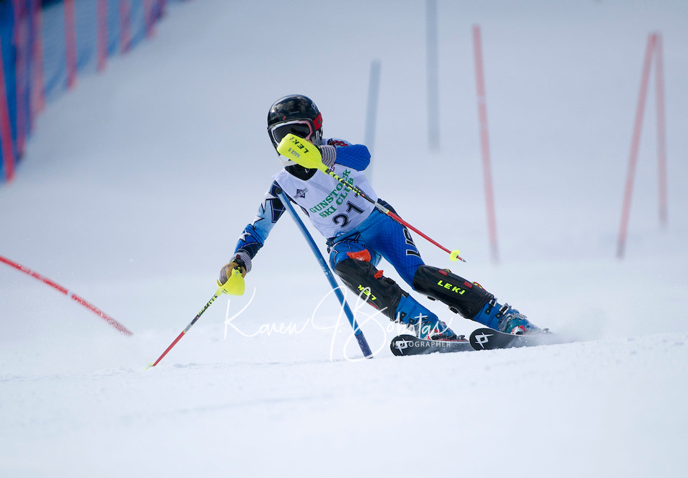 Piche Invitational Slalom 1st run U14 boys Sunday, March 17, 2013.  Karen Bobotas Photographer