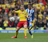 Matej Vydra during the Sky Bet Championship match between Brighton and Hove Albion and Watford at the American Express Community Stadium, Brighton and Hove, England on 25 April 2015.