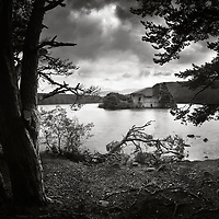 Loch an Eilein castle, stronghold of the Wolf of Badenoch, Highlands