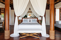 David and Victoria Beckham and their brood are living it up in a $6,500-a-night hotel after escaping the deadly Bali earthquake zone. The family had been enjoying a luxury retreat in Bali, but following an earthquake in the neighboring island of Lombok last week that left at least 321 dead, the football ace decided to evacuate his family 450 miles away from the disaster zone to a private island of Sumba near Indonesia. David and Victoria along with their children Brooklyn, 19, Romeo 15, Cruz 12, and Harper, 7, arrived at the Nihi resort on Sunday, according to media reports, and are staying in a stunning four-bedroom villa complete with its own pool, which goes for $6,500-a-night. But according to reports, the hotel — which has twice been voted the best hotel in the world by travel writers — is putting the Beckhams up for free. The family arrived to the island on Sunday and are said to have flown in by private jet before being whisked off to the Nihi resort in a SUV. As these photos shows, the stunning resort is the picture-perfect paradise and is located close to one of the region's best surfing beaches. The resort boasts 27 villas and 38 rooms ranging in size, with all accommodations having a private pool, and the hotel is set on a 2.5km stretch of private beach and surrounded by lush greenery. The hotels asks guests who visit the local villages to wear appropriate clothing, including a sarong — so David should fee right at home — and a T-shirt that covers the shoulders. David and the boys have reportedly enjoyed surfing during their stay, while former Spice Girls Victoria and Harper have been pampered in the hotel's spa. 13 Aug 2018 Pictured: David Beckham and his family are staying at the ultra luxurious Nihi resort on the private island of Sumba near Indonesia after escaping the Bali earthquake zone. Photo credit: Nihi/ MEGA TheMegaAgency.com +1 888 505 6342