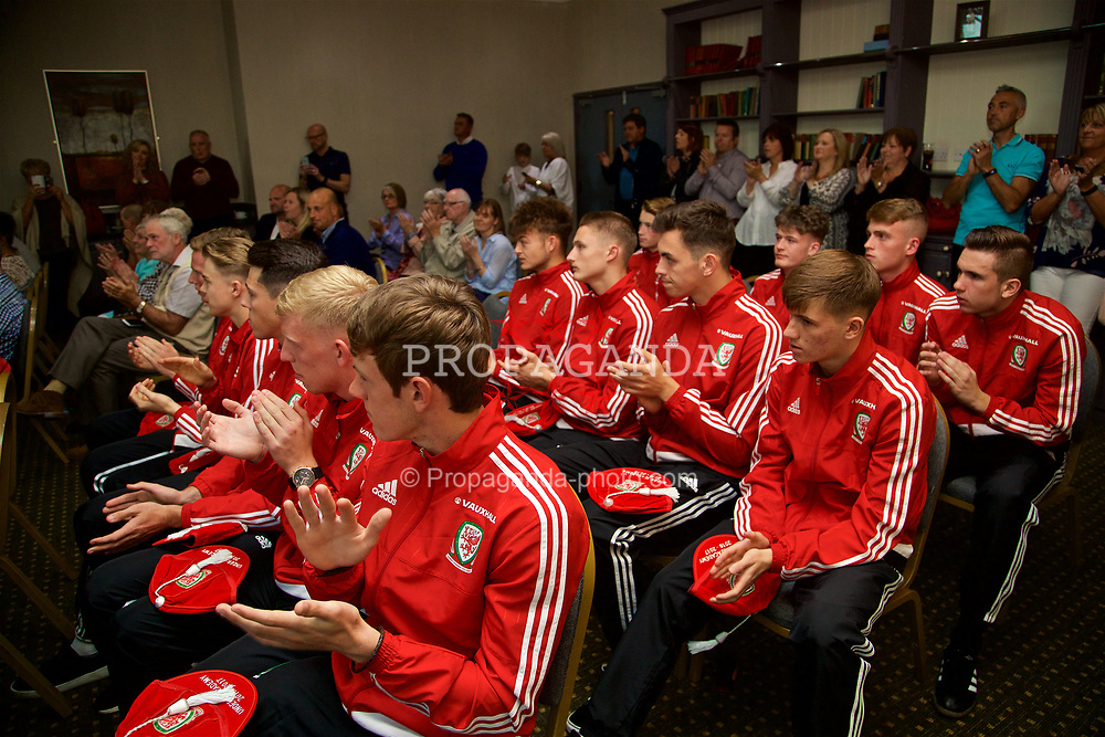 CARDIFF, WALES - Tuesday, June 6, 2017: Players at parents during a presentation at the Vale Resort. (Pic by David Rawcliffe/Propaganda)