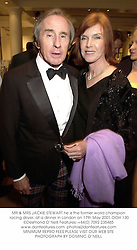 MR & MRS JACKIE STEWART he is the former world champion racing driver, at a dinner in London on 17th May 2001.OOH 130