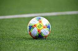 A general view of the match ball during the UEFA Euro 2020 Qualifying, Group D match at the Victoria Stadium, Gibraltar.