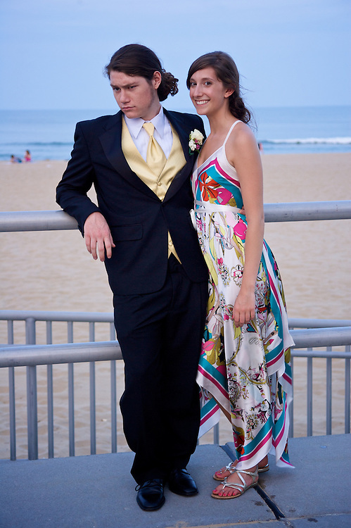 Students From Cox High School in Virginia Beach pose for pictures before heading to Prom
