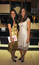 Left to right, sisters PIPPA MIDDLETON and KATE MIDDLETON  at a party to celebrate the publication of 'Young Stalin' by Simon Sebag-Montefiore at Asprey, New Bond Street, London on 14th May 2007.<br /><br />NON EXCLUSIVE - WORLD RIGHTS
